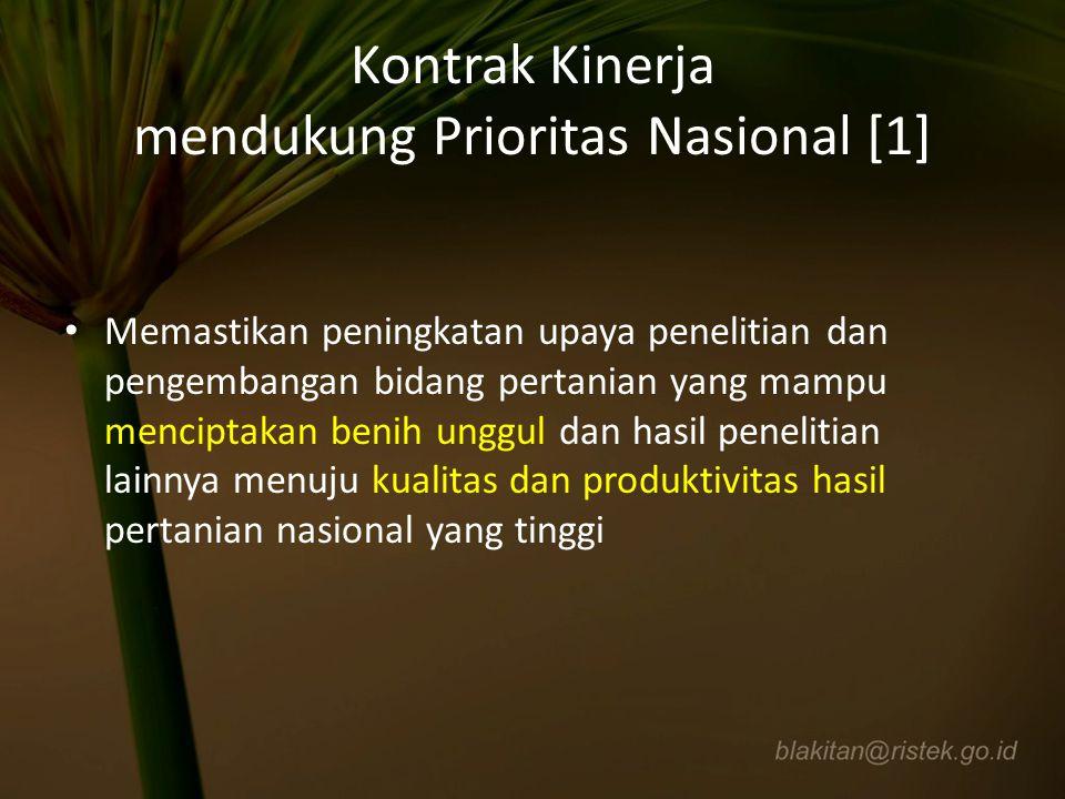Kontrak Kinerja mendukung Prioritas Nasional [1]